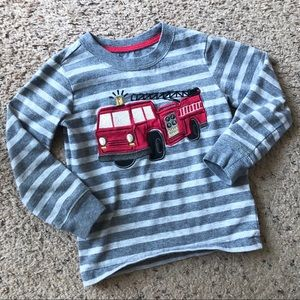 Wonder Kids fire truck long sleeve tee, 3T